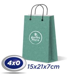 250 Sacolas Pequenas 15x21x7cm Offset 150g 4x0 cor - Produção 2 dias úteis