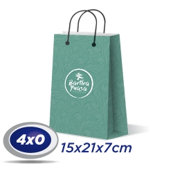 500 Sacolas Pequenas 15x21x7cm Offset 150g 4x0 cor - Produção 2 dias úteis