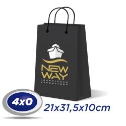 250 Sacolas Médias 21x31,5x10cm Offset 150g 4x0 cor - Produção 2 dias úteis