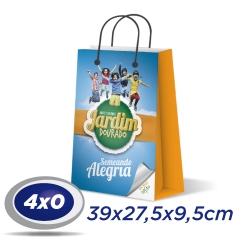 250 Sacolas Grandes 39x27,5x9,5cm Offset 150g 4x0 cor - Produção 2 dias úteis