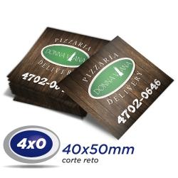 100 Imãs de Geladeira 4x5cm 4x0 cor Corte Reto - Produção 5 dias úteis