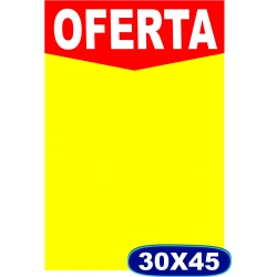Cartaz Oferta - 30x45cm - CÓD. 503 - Pacote c/ 100 uni.