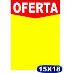 Cartaz Oferta- 15x21cm - CÓD. 501 - Pacote c/ 100 uni.