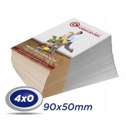 100 Cartões de Visita 9x5cm Couche 230g 4x0 cor Sem Verniz - Produção 2 dias úteis