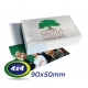 1000 Cartões de Visita 9x5cm Couche 230g 4x4 cor Verniz UV Frente Produção 2 dias úteis