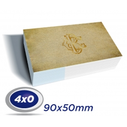 1000 Cartões de Visita 9x5cm Reciclato 240g 4x0 cor - Produção 3 dias úteis