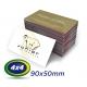 250 Cartões de Visita 9x5cm Couche 230g 4x4 cor Sem Verniz - Produção 2 dias úteis