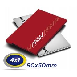 500 Cartões de Visita 9x5cm Couche 230g 4x1 cor Verniz UV Frente Produção 2 dias úteis
