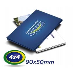 500 Cartões de Visita 9x5cm Couche 300g 4x4 cor Laminação Fosca - Produção 3 dias úteis