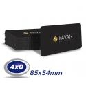 1000 Cartões PVC 0,3mm 8,5 x 5,4cm PVC Plástico 4x0 cor - Produção 5 dias úteis