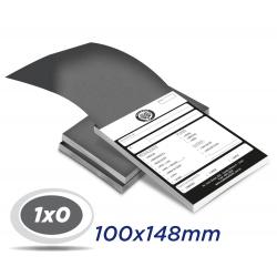 20 Blocos 10x14,8cm Sulfite 63g 100x1 via 1x0 cor impressão preto - Produção 2 dias