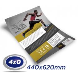 500 Cartazes 44x62cm Couche 120g 4x0 cor - Produção 2 dias