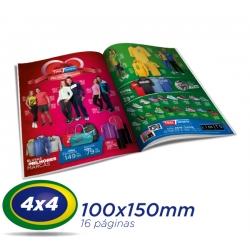 2500 Catalogos 10x15cm 16 Pág. COUCHE 150g 4x4 cor - 1 Dobra Central - 2 Grampos- Produção 7 dias