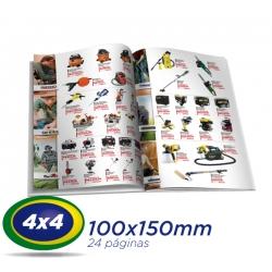 500 Catalogos 10x15cm 24 Pág. COUCHE 115g 4x4 cor - 1 Dobra Central - 2 Grampos- Produção 7 dias