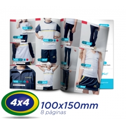2500 Catalogos 10x15cm 8 Pág. COUCHE 115g 4x4 cor - 1 Dobra Central - 2 Grampos- Produção 7 dias