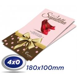 100 Convites 10x18cm Couche 250g - 4x0 cor - Verniz UV total frente - Produção 2 dias