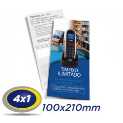 2500 Filipetas 10x21cm COUCHE 150g 4x1 cor - Produção 2 dias
