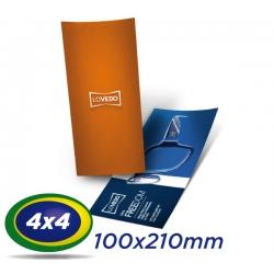 2500 Filipetas 10x21cm COUCHE 150g 4x4 cor - Produção 2 dias