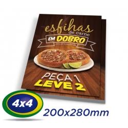 2500 Folhetos 20x28cm Couche 90g 4x4 cor - Produção 2 dias úteis