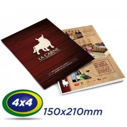 2500 Folders 15x21cm Couche 150g 4x4 cor - Produção 2 dias úteis