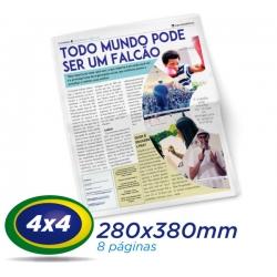10.000 Jornais 28x38cm 8 Pág. Papel JORNAL 49g 4x4 cor 1 Dobra - Produção 1 dia