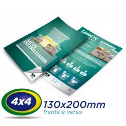 10.000 Panfletos 13x20cm Papel LWC 60g Cor 4x4 - Produção 2 dias