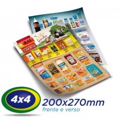 20.000 Panfletos 20x27cm Papel LWC 60g Cor 4x4 - Produção 1 dia