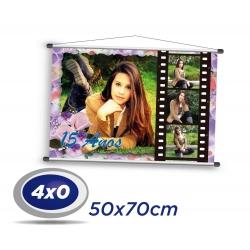 1 Banner 50x70cm Lona 340g 4x0 cor - Produção 2 dias