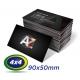 1000 Cartões de Visita 9x5cm Couche 300g 4x4 cor Laminação Fosca - UV Localizado - Produção 3 dias úteis