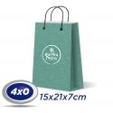 1000 Sacolas Pequenas 15x21x7cm Offset 150g 4x0 cor - Produção 10 dias úteis