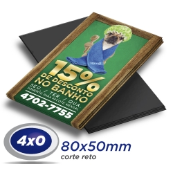 5000 Imãs de Geladeira 8x5cm 4x0 cor Corte Reto - Produção 5 dias úteis