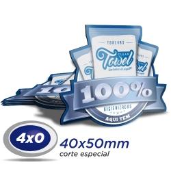 100 Imãs de Geladeira 4x5cm 4x0 cor Corte Especial - Produção 5 dias úteis