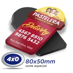 500 Imãs de Geladeira 8x5cm 4x0 cor Corte Especial - Produção 5 dias úteis