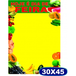 Cartaz Hoje é Dia de Feira - 30x45cm - CÓD. 512 - Pacote c/ 100 uni.