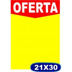 Cartaz Oferta A4 - 21x 30cm - CÓD. 502 - Pacote c/ 100 uni.