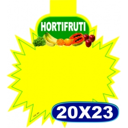 Splash Hortifruti - 20x23cm - CÓD. 06 - Pacote c/ 100 uni.