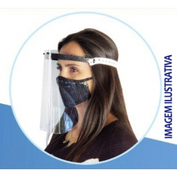 PROTETOR FACIAL EPI (FACE SHIELD) - CAIXA C/ 50 UND