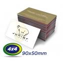 100 Cartões de Visita 9x5cm Couche 230g 4x4 cor Sem Verniz - Produção 2 dias úteis