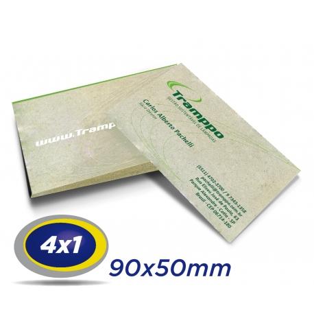 1000 Cartões de Visita 9x5cm Reciclato 240g 4x1 cor - Produção 3 dias úteis