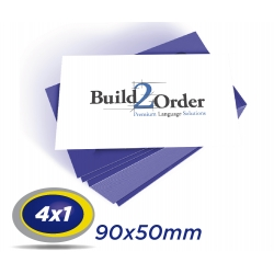 250 Cartões de Visita 9x5cm Couche 230g 4x1 cor Sem Verniz - Produção 2 dias úteis