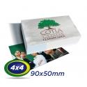 500 Cartões de Visita 9x5cm Couche 230g 4x4 cor Verniz UV Total Frente Produção 2 dias úteis