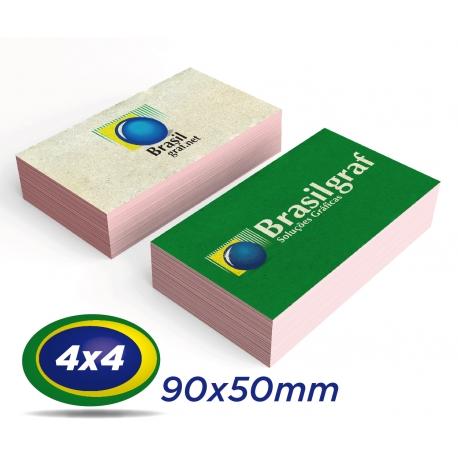 500 Cartões de Visita 9x5cm Reciclato 240g 4x4 cor - Produção 3 dias úteis