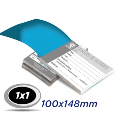 20 Blocos 10x14,8cm Sulfite 63g 100x1 via 1x1 cor impressão preto - Produção 2 dias