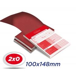 20 Blocos 10x14,8cm Sulfite 63g 100x1 via 2x0 cor (Preto-Vermelho-Verde-Azul-Amarelo) - Produção 3 dias