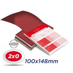 20 Talões Numerados 10x14,8cm Sulfite 63g 100x1 ou 50x2 vias 2x0 cor (Preto-Vermelho-Verde-Azul-Amarelo) - Produção 4 dias