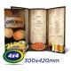25 Cardapios 30x42cm Couche 300g 4x4 cor - Laminação Fosca - 2 VINCOS - Produção 4 dias