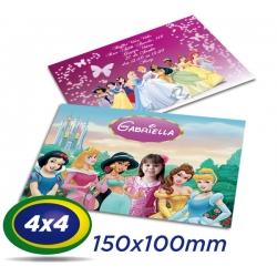 200 Convites 10x15cm - Couche 150g - 4x4 cor - Prazo de Produção 2 dias