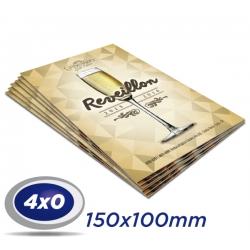 100 Convites 10x15cm Supremo 300g- 4x0 cor - Verniz UV total frente - Produção 2 dias