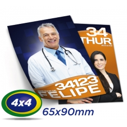 320.000 Santinhos 6,5x9cm Papel LWC 60g 4x4 cor - Produção 1 dia