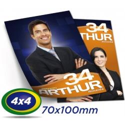 5.000 Santinhos 7x10cm Papel Couche 90g 4x4 cor - Produção 2 dias úteis